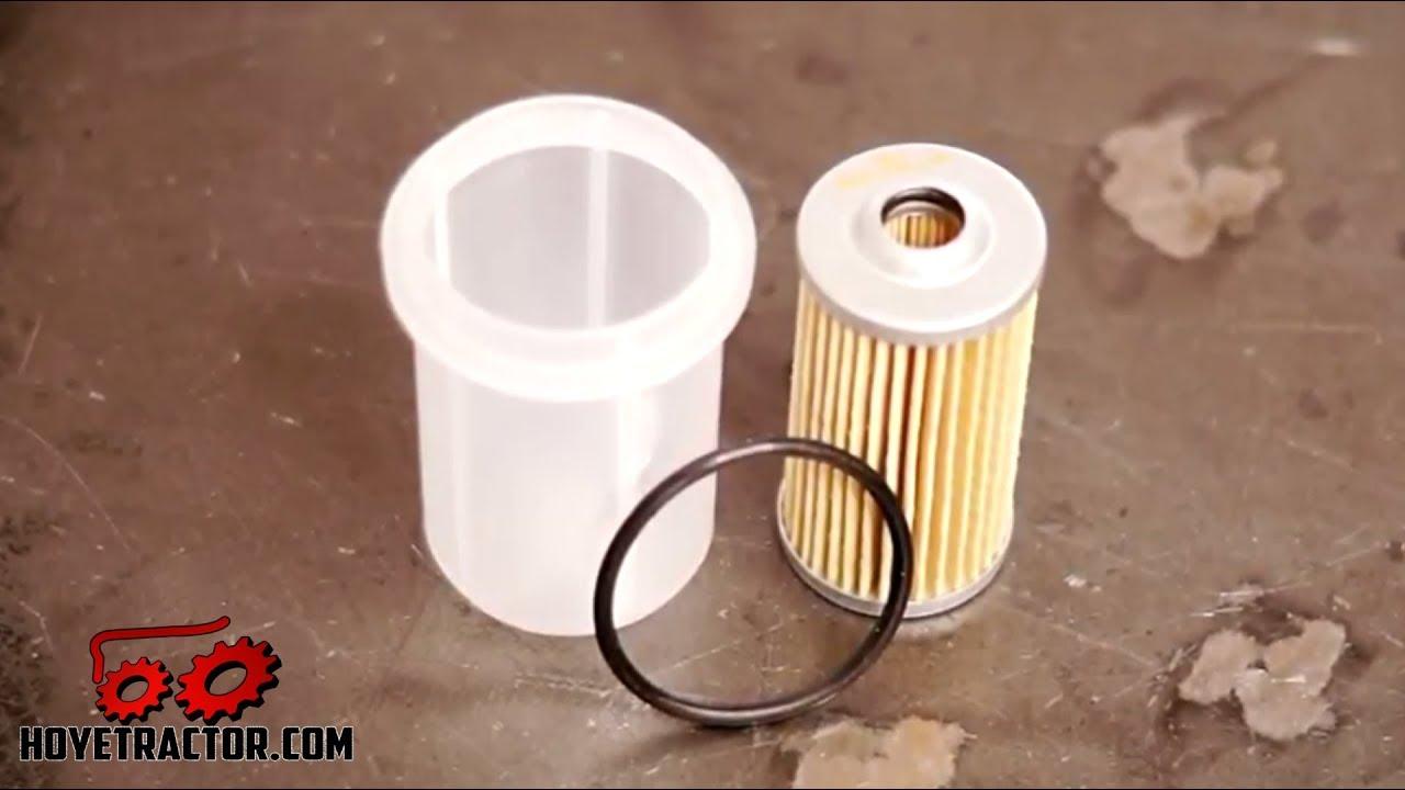 yanmar tractor fuel filter replacement  u0026 bleeding