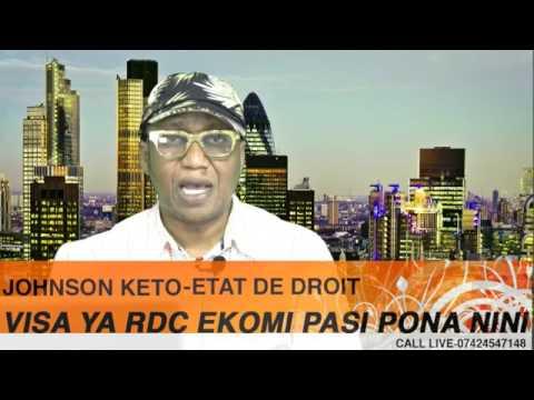 ETAT DE DROIT: VISA YA CONGO RD EKOMI PASI PO BA COMBATTANTS BABETA SHE OKITUNDU NA LONDRES.....