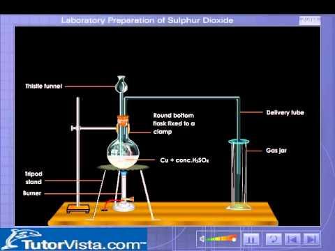 Laboratory Preparation of Sulphur Dioxide  YouTube