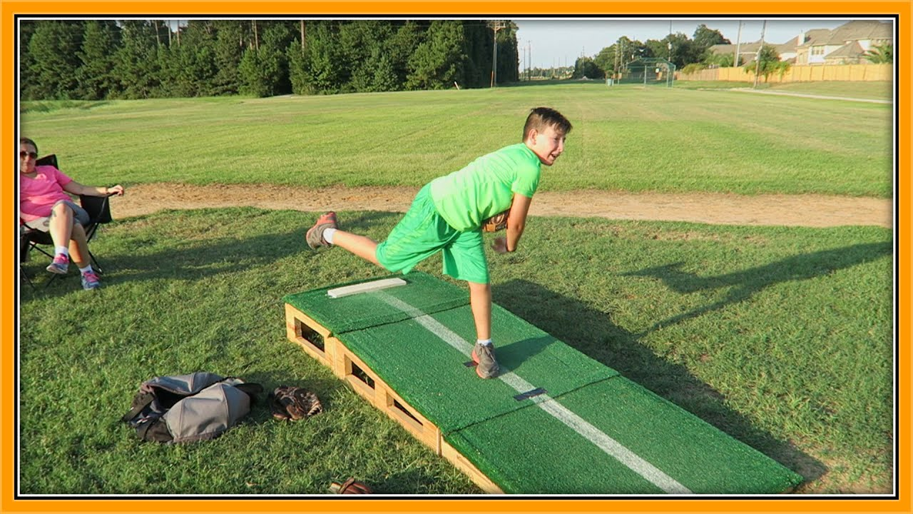 PITCHING FROM A PORTABLE PITCHING MOUND | ERIKTV365 - YouTube