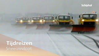 Tijdreizen: sneeuwvloot op Schiphol ❄