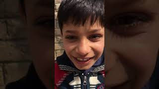 Funny Kashmiri kid without eyebrows