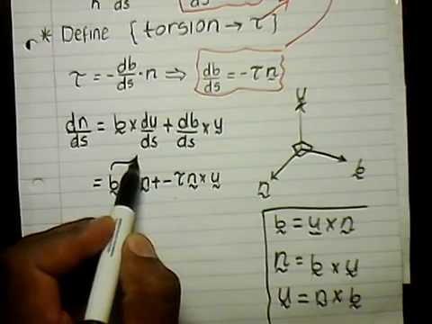 Wits MATH 2011 Calc Chp 2 Serret fernet Formulae