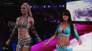 WWE 2K19 - Mickie James with Alexa Bliss VS Layla with Michelle McCool