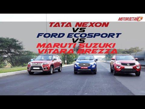 Ford Ecosport 2017 vs Maruti Vitara Brezza vs Tata Nexon COMPARISON