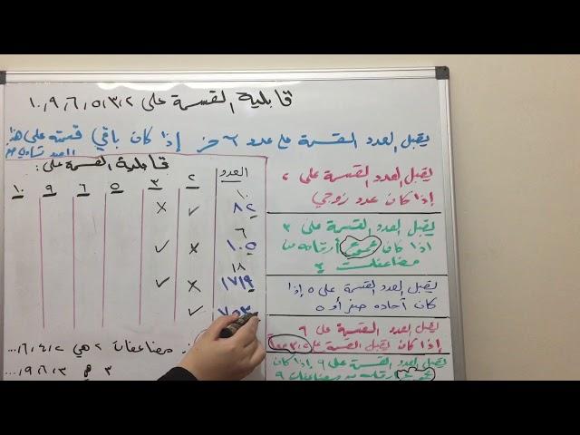 قابلية القسمة على 2، 3، 5، 6، 9، 10