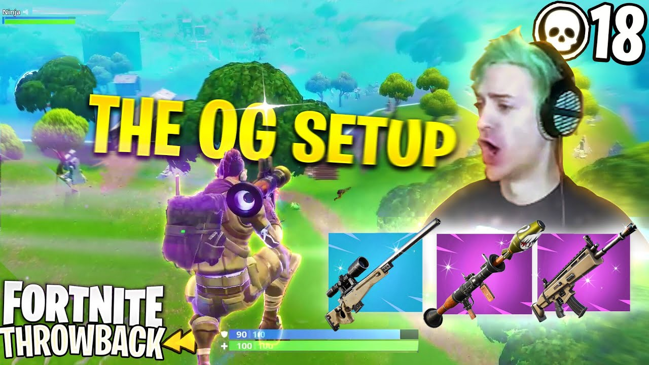 DESTROYING WITH MY OG SEASON 2 SETUP! BOLT-ACTION, SCAR & RPG! - FORTNITE SOLOS THROWBACK