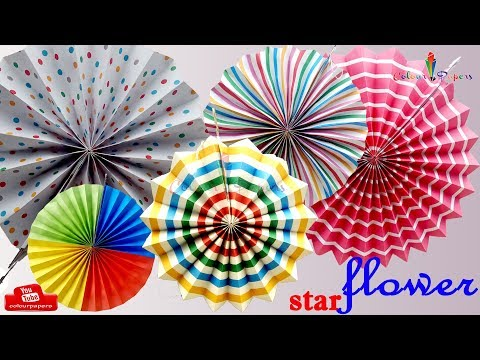 DIY Paper Crafts🍀 How to make simple Paper ROSETTES🍀SPRING FLOWERS🍀Colour Papers