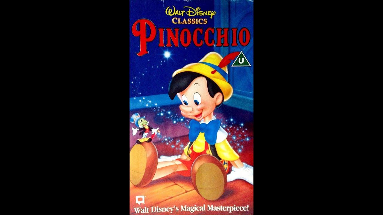 Digitized opening to Pinocchio (1995 VHS UK) - YouTube