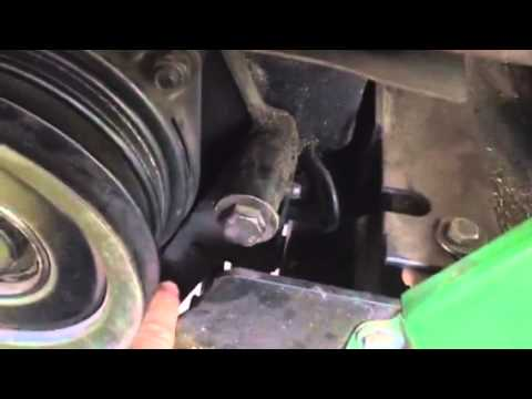 John Deere 212 v belt - YouTube