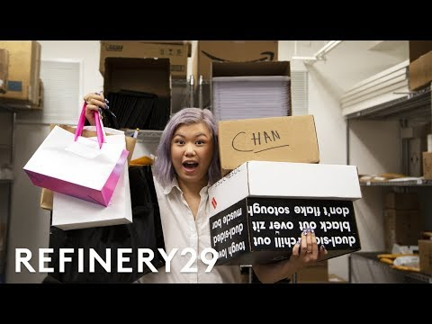 LIVE Unboxing A Huge PR Haul | Beauty With Mi | Refinery29