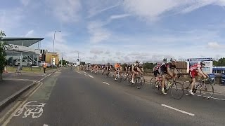 ride london 2015 leading groups of riders on portsmouth road