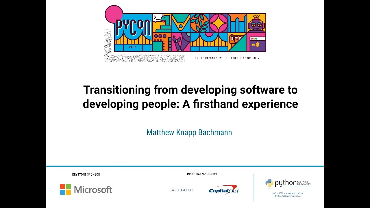 Image from Transitioning from developing software to developing people