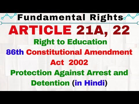 Article 21A and 22 of Indian Constitution | Fundamental Rights by Lakshmikanth in hindi UPSC IAS SSC