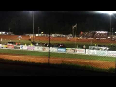 Josh Burton Memorial Sprint Car Feature Part 1/2  Bloomington Speedway
