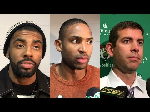 Kyrie Irving, Al Horford and Brad Stevens speak to media about Celtics