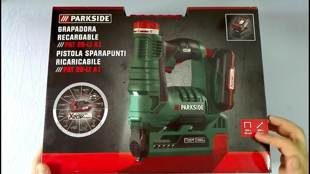 Pistola sparapunti ricaricabile parkside lidl pat 20 li a1 for Parkside pistola sparapunti elettrica