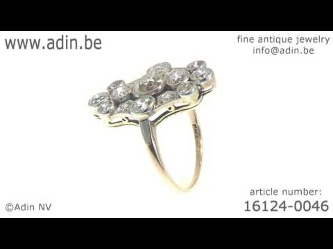 Antique vintage Art Deco diamond engagement ring - Belle Epoque. (Adin reference: 16124-0046)