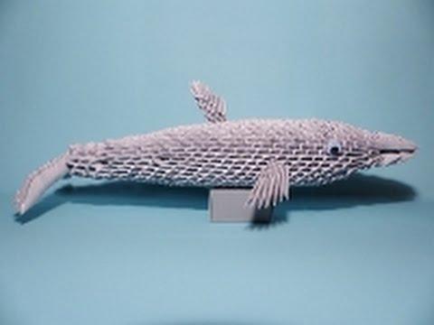 3D Origami Delfin Tutorial Deutsch Teil 1