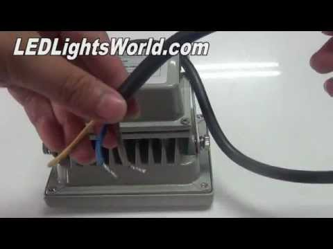 10W Outdoor High Power LED Flood Light & 10W Outdoor High Power LED Flood Light - YouTube