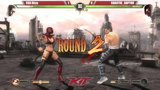 MK9 @ KIT15 - GGA Dizzy (Johnny Cage) vs Khaotic Raptor (Skarlet) [720p/60fps]