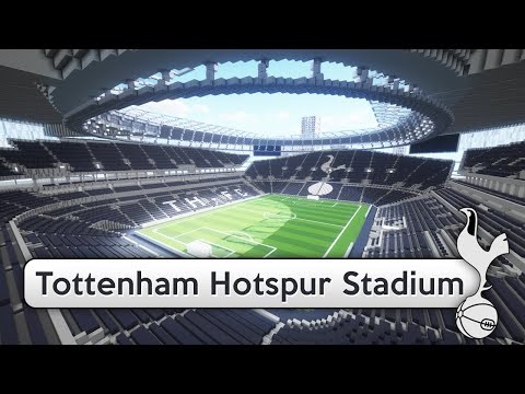 3d Football Stadium Wallpaper Minecraft Megabuild New Tottenham Stadium Download