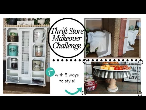 Farmhouse Thrift Store Makeover Challenge/ Trash to Treasure
