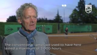 Philips OptiVision LED and tennis: a sustainable match