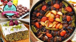 Enfes Patlıcan Kebabı Kolay Yöntemle & Haşhaşlı Revani İftar Menüsü Ayşenur Altan Tarifleri