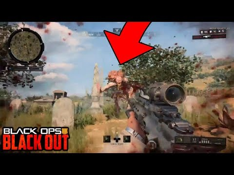 *NEW* ZOMBIES BOSS FROM IX IN BLACKOUT GAMEPLAY!!! (Call of Duty Black Ops 4 Blackout)