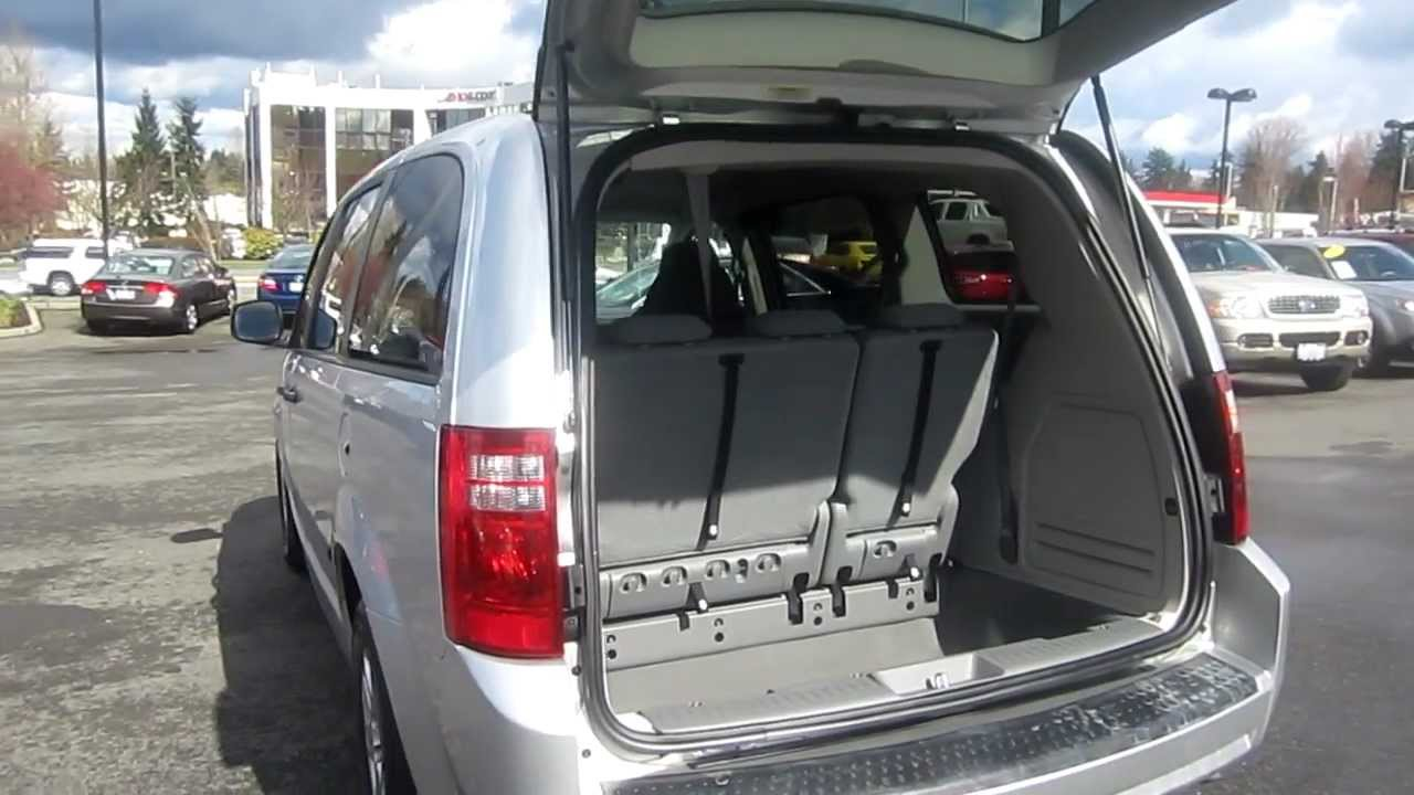2008 Dodge Grand Caravan Se Silver Stock K1307781 Interior Rear Youtube