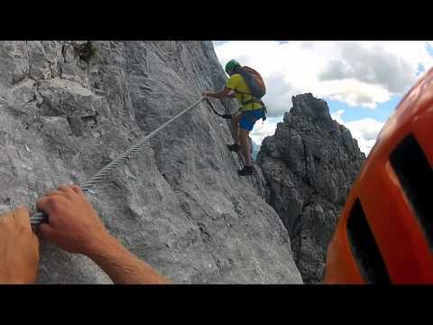 Klettersteig Däumling : Klettersteig däumling youtube
