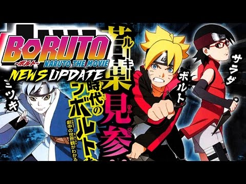 Bolt, Sarada & Mitsuki OFFICIAL Anime CHARACTER Designs BORUTO Naruto the Movie