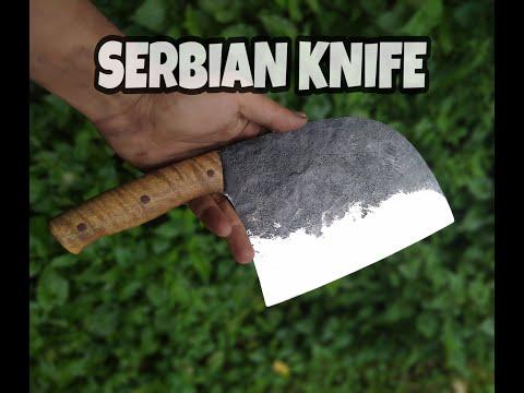 MAKE A SERBIAN CHEF KNIFE FROM SPRING STEEL INDONESIA BLACKSMITH (ALMAZAN KITCHEN)