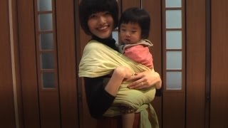 赤ちゃんをさらしで抱っこするやり方