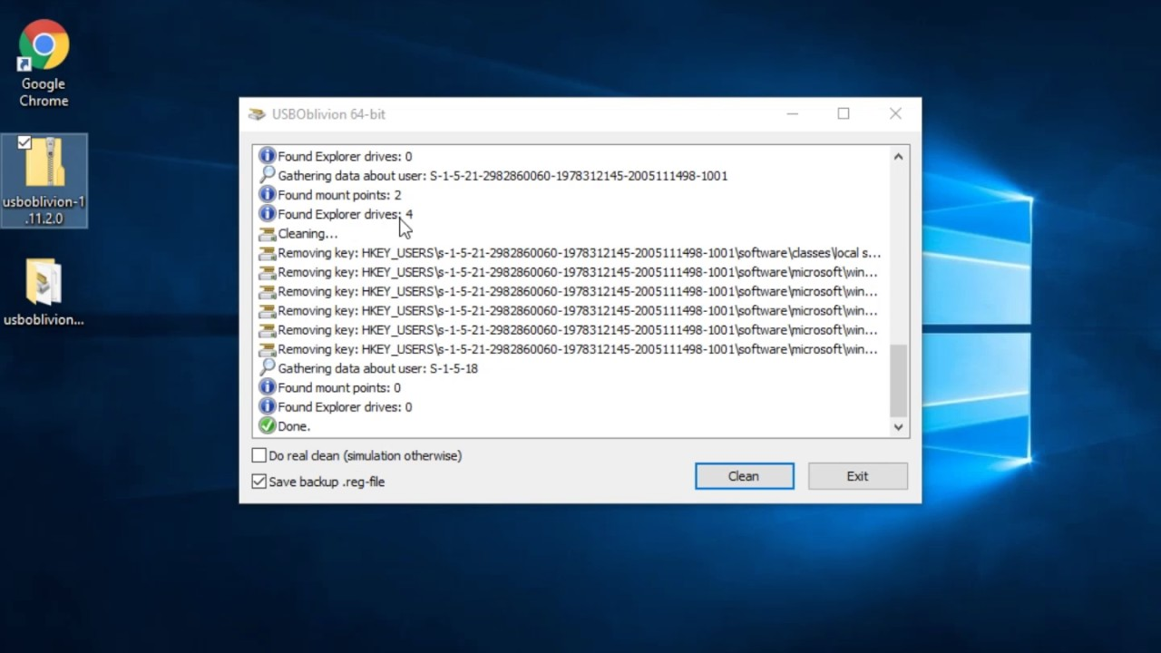 Erase All USB Traces with USB Oblivion