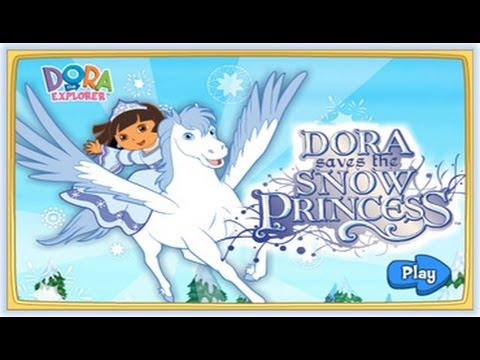 Dora saves the snow princess game dora the explorer youtube - Princesse dora ...