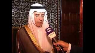 وزير الخارجية العراقي الدكتور ابراهيم الجعفري ووزير خارجية المملكة العربية السعودية عادل الجبير