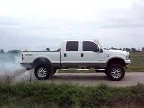2006 Lifted Ford F-250 Burnout with Banks 6 gun - YouTube
