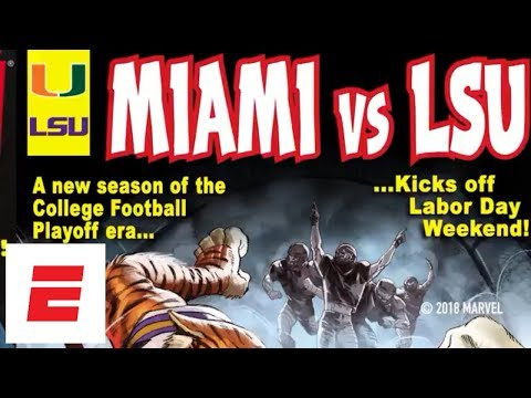 College Football Playoff & Marvel Comic Covers: Behind the Scenes Miami/LSU | ESPN