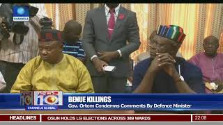 Benue Killings: Gov Ortom Condemns Comments By Defense Minister
