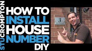 Installing modern house number