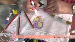 Faça lindas pinturas em tecido com canetinha