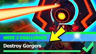Destroy Gorgers & ALL Gorgers Locations - Fortnite Season 4 Week 5 Challenges