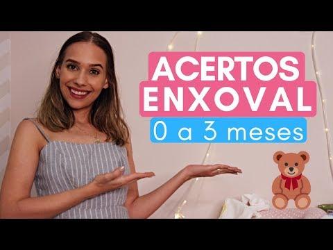 OS MAIS USADOS DO ENXOVAL DO BEBÊ (0 A 3 MESES)
