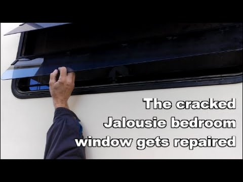 Cracked Jalousie Window Replacement - Shelley Gets a Piece of Glass in Vegas