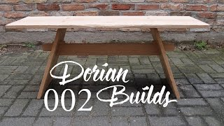 Dorian Builds Ep.2 : Oak bench with hand cut joinery