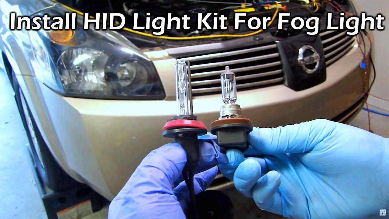 Hid Kit Install Into Factory Fog Light Youtube Nissan Sentra Wiring