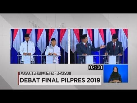 Debat Final Pilpres 2019 Soal Perdagangan & Industri
