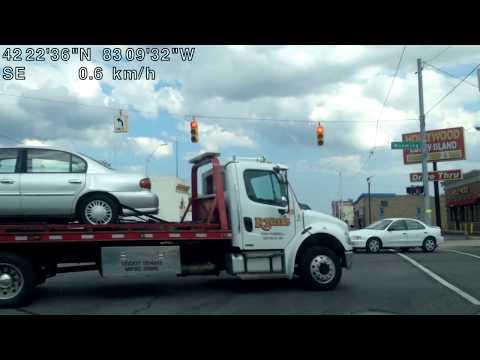 Driving in Detroit, Michigan